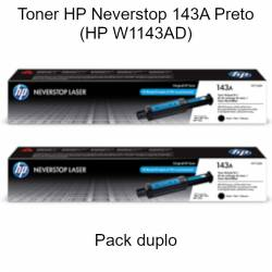 Toner HP Neverstop 143A Preto (W1143A) pack duplo