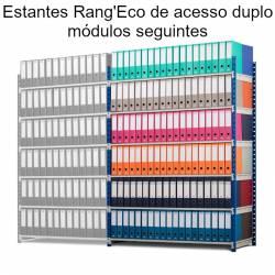 Estantes Rangeco de acesso duplo para escritório (módulos seguintes)
