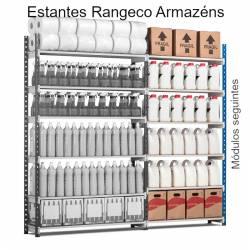 Estantes Rangeco Armazéns acesso simples módulos seguintes