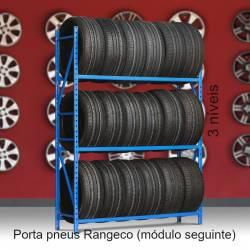 Porta pneus Rangeco de 3 níveis - módulos seguintes