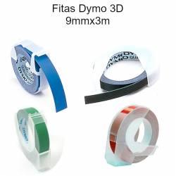 Fitas Dymo 3D coloridas 9mmx3m