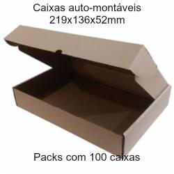 Caixas de cartao auto-montáveis 219x136x52 mm