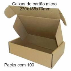 Caixas de cartão micro montáveis para expedições 270x185x70mm