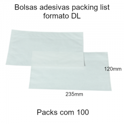 Bolsas adesivas Packing List DL