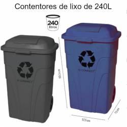 Contentores de lixo em plástico de 240L