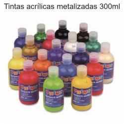 Tintas acrílicas metalizadas 300ml