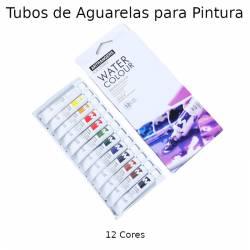 Tubos de aguarelas para pintura - 12 cores