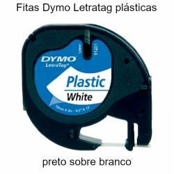 Fita Dymo Letratag 12mmx4mt...