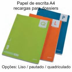 folhas de papel A4 de recarga para dossiers