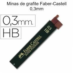 Minas de grafite Faber-Castell 0,3mm HB