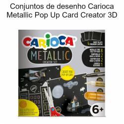 Set de desenho Carioca Metallic Pop Up Card Creator 3D