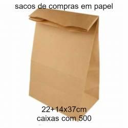 sacos de compras em papel