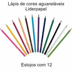 Lápis de cores aguareláveis...