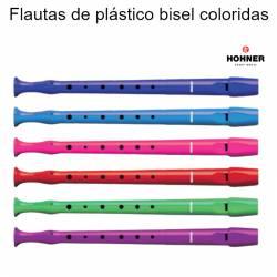 Flautas de plástico bisel coloridas
