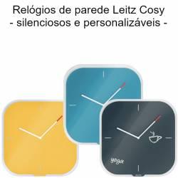 Relógios de parede coloridos Leitz Cosy Silent Glass Wall