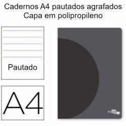 Cadernos A4 pautados agrafados Série 360º