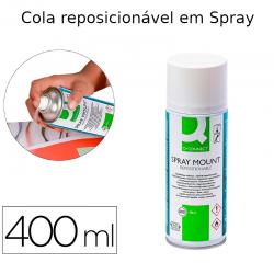 Cola reposicionável em spray