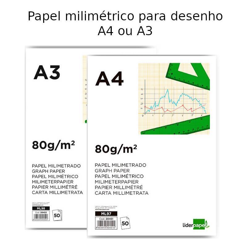 Blocos de papel milimétrico