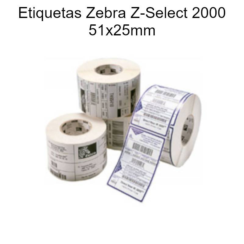 etiquetas Zebra Z-Select 2000 51x25mm