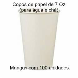 Copos de papel para água 200 ml