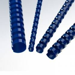 Lombadas plásticas de encadernação azuis
