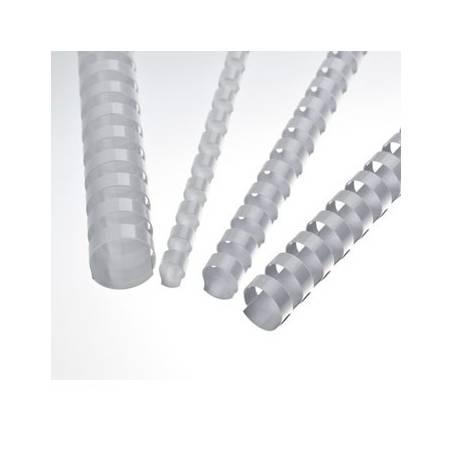 argolas plásticas de encadernação brancas