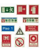 Letreiros e pictogramas de sinalização